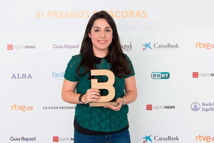 Laura Lopez, ganadora del premio Bitacoras